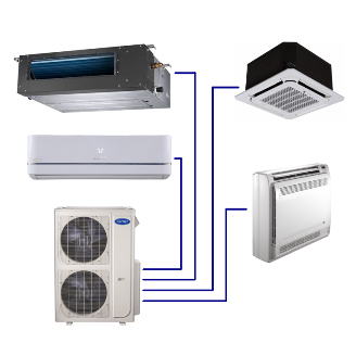 Performance™ Residential Ductless Multi-Zone Heat Pump System  38MGQ/40MB